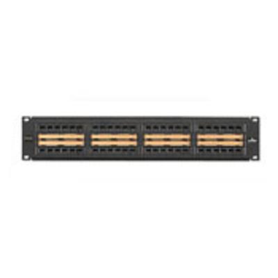 Leviton 5G596-C48 Leviton 5G596-C48 GigaMax® Category 5E Patch Panel; 14 Gauge Steel/Plastic, Black