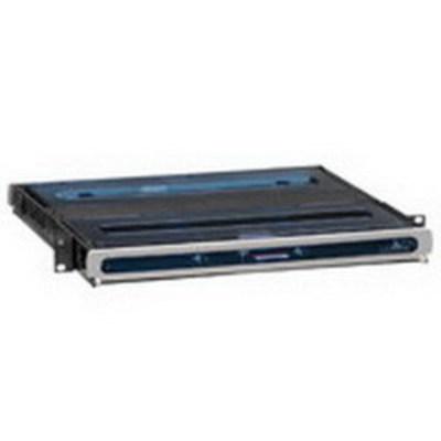 Leviton 5R1UH-S03 Leviton 5R1UH-S03 OPT-X® Ultra Fiber Optic Enclosure; Rack Mount, 1-Rack Unit, Black