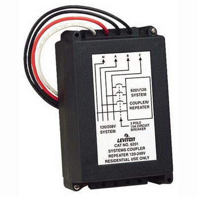 Leviton 6201 Leviton 6201 System Amplifier/Coupler/Repeater; Black