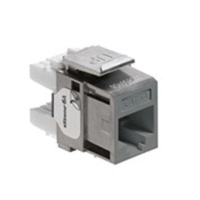 Leviton 6A10G-RG6 Leviton 6A10G-RG6 EXtreme QuickPort® Category 6A Modular Jack; Gray