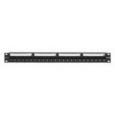 Leviton 6A586-U24 Leviton 6A586-U24 eXtreme® 110-Punchdown Category 6A Patch Panel; Rack Mount, 24-Port, 1-Rack Unit, Black