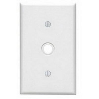 Leviton 88018 Leviton 88018 Standard Size 1-Gang Wallplate; Strap Mount, Thermoset, White