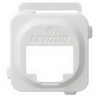 Leviton AB200-W Leviton AB200-W Adapter Bezel; 1-Port, ABS Plastic, White, Box Mount