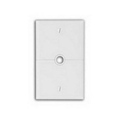 Leviton N751-W Leviton N751-W Sectional Combination 1-Gang Telephone/Cable Split Wallplate; Box Mount, Thermoplastic Nylon, White