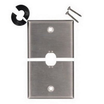Leviton S751-N Leviton S751-N 1-Gang Weather-Resistant Cover; Box Mount, 302 Stainless Steel