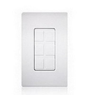 Lutron SC-6PF-TP Lutron SC-6PF-TP Satin Colors® Maestro® 1-Gang 6 Port Frame With Blank; Wall Mount, Plastic, Taupe