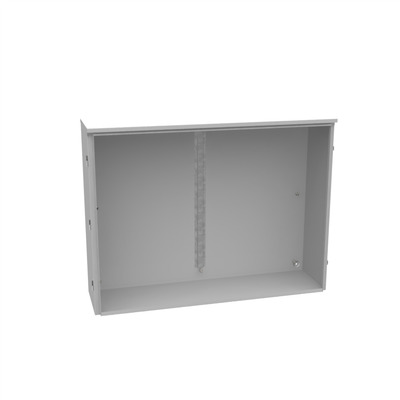 Milbank 483612-TC3R-SP1 Milbank 483612-TC3R-SP1 Hinged Cover Telephone Cabinet; 14-16 Gauge Steel; 48 Inch Width x 12 Inch Depth x 36 Inch Height
