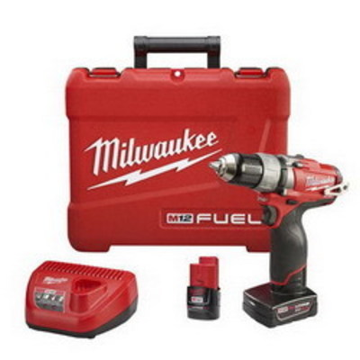 Milwaukee Electric Tools 2403-22 Milwaukee Tools 2403-22 M12 Fuel™ Drill/Driver Kit; 12 Volt, 7.75 Inch Length x 1/2 Inch Chuck, 350 Inch-lb Torque