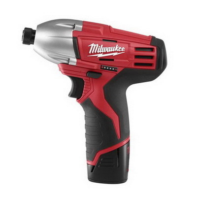 Milwaukee Electric Tools 2450-22 Milwaukee Tool  2450-22 M12™ Hex Impact Driver; 12 Volt, 1/4 Inch Drive, 850 Ft-Lb Torque