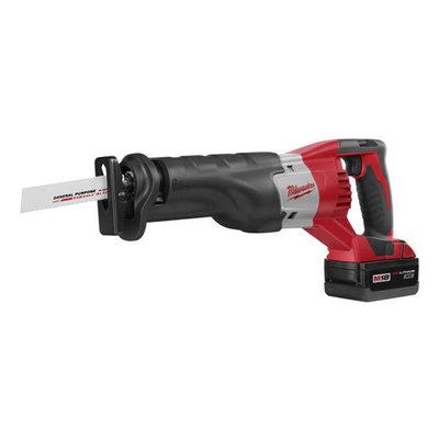 Milwaukee Electric Tools 2620-22 Milwaukee Tools 2620-22 M18™ Sawzall® Keyless Blade Clamp Reciprocating Saw Kit; 18 Volt, Redlithium™ Battery