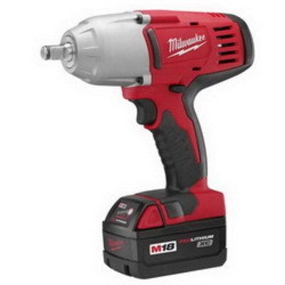 Milwaukee Electric Tools 2663-22 Milwaukee Tools 2663-22 M18™ High-Torque Impact Wrench With Friction Ring Kit; 18 Volt, 8.875 Inch Length x 1/2 Inch Drive, 450 ft-lb Torque