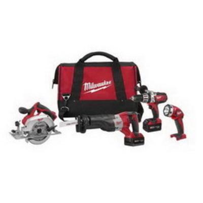 Milwaukee Electric Tools 2690-24 Milwaukee Tools 2690-24 M18™ 9 Piece Cordless 4-Tool Combo Kit