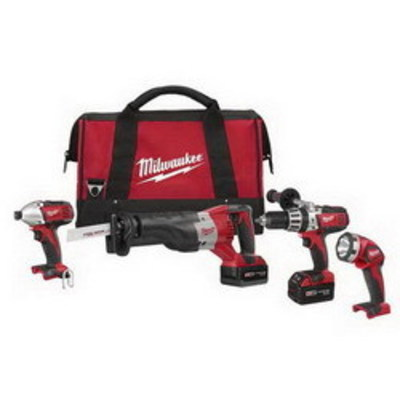 Milwaukee Electric Tools 2692-24 Milwaukee Tools 2692-24 M18™ Cordless 4 Tool Combo Kit; 9-Piece, 18 Volt Lithium-Ion Battery