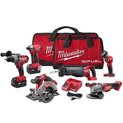 Milwaukee Electric Tools 2796-26 Milwaukee Tools 2796-26 M18™ Combo Kit; 6 Piece