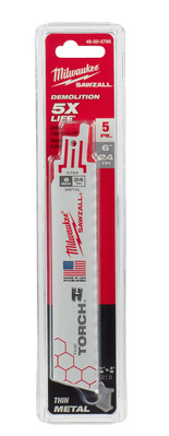 Milwaukee Electric Tools 48-00-5786 Milwaukee Tools 48-00-5786 The Torch™ Blade; 6 Inch Length x 24 TPI