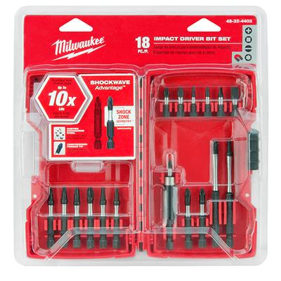 Milwaukee Electric Tools 48-32-4403 Milwaukee Tools 48-32-4403 Shockwave™ Screwdriver Bit Set; 18-Piece
