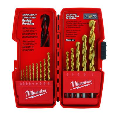 Milwaukee Electric Tools 48-89-0011 Milwaukee Tools 48-89-0011 Thunderbolt® Heavy Duty Drill Bit Set; High Speed Steel, Titanium
