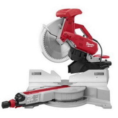 Milwaukee Electric Tools 6955-20 Milwaukee Tools 6955-20 Dual-Bevel Sliding Compound Miter Saw; 120 Volt AC, 15 Amp, 5/8 Or 1 Inch Arbor, 48 Degree Bevel Capacity, 12 Inch Blade, 3200 RPM