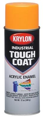 Minerallac 37481 Cully 37481 Krylon® Industrial Tough Coat® Acrylic Enamel Paint; 16 oz, Aerosol Can, OSHA Orange