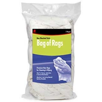 Minerallac 37580 Cully 37580 Industrial Wiping Cloth/Rags; 1 lb Bag, White