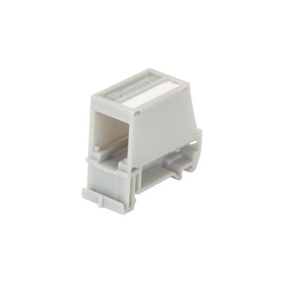 Panduit CADIN1IG Panduit CADIN1IG Mini-Com® 1-Port Adapter; 3/4 Inch Width x 1.60 Inch Depth x 1.89 Inch Height, DIN Rail Mount, Polycarbonate, International Gray