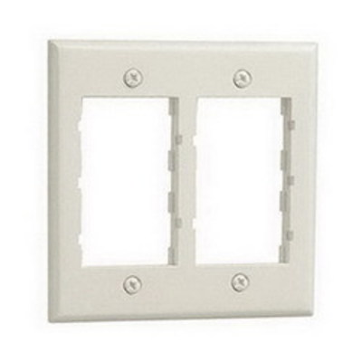 Panduit CBIW-2G Panduit CBIW-2G Mini-Com® 2-Gang Classic Faceplate Frame; Screw, Plastic, Off White