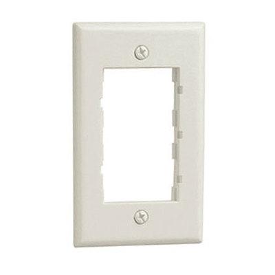 Panduit CBWH Panduit CBWH Mini-Com® 1-Gang Faceplate Frame; Various, Plastic, White, Screw Mount