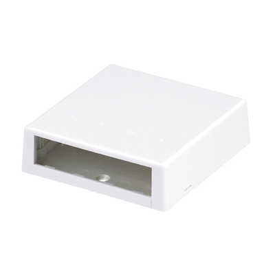 Panduit CBXC4IW-A Panduit CBXC4IW-A Mini-Com® Low Profile Surface Mount Box; 4-Port, Screw/Adhesive Tape/Magnet Mount, ABS, Off White