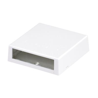Panduit CBXC4WH-A Panduit CBXC4WH-A Mini-Com® Low Profile Surface Mount Box; 4-Port, Screw/Adhesive Tape/Magnet Mount, ABS, White