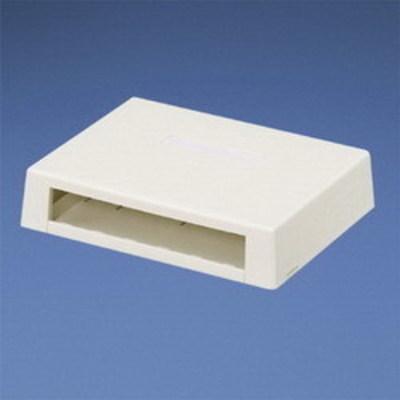 Panduit CBXD6WH-AY Panduit CBXD6WH-AY Mini-Com® Low Profile Surface Mount Box; ABS, White, (6) Port