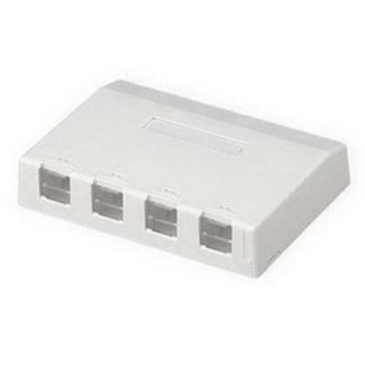 Panduit CBXS4IW-AY Panduit CBXS4IW-AY Mini-Com® Shuttered Surface Mount Box; ABS, Off-White, (4) Port