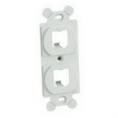 Panduit CF1062WHY Panduit CF1062WHY Mini-Com® Module Frame; Screw, (2) UTP, STP, Fiber-Optic, A/V Port, Plastic, White