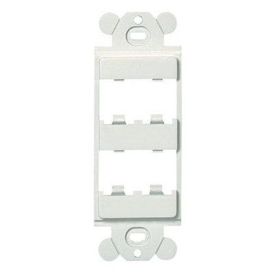 Panduit CFG4EI Panduit CFG4EI Mini-Com® 1-Gang Decorator Frame; 4-Port, Flush Mount, ABS, Electric Ivory