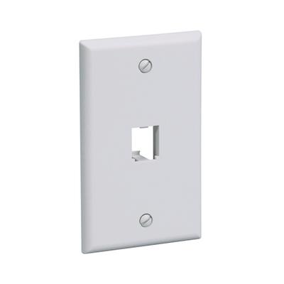 Panduit CFP1IG Panduit CFP1IG Mini-Com® 1-Gang Faceplate; 1-Port, ABS, International Gray, Flush Mount