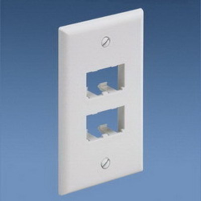 Panduit CFP4IW Panduit CFP4IW Mini-Com® 1-Gang Flat Faceplate; (4) UTP, STP, Fiber-Optic, A/V Port, ABS, Off White