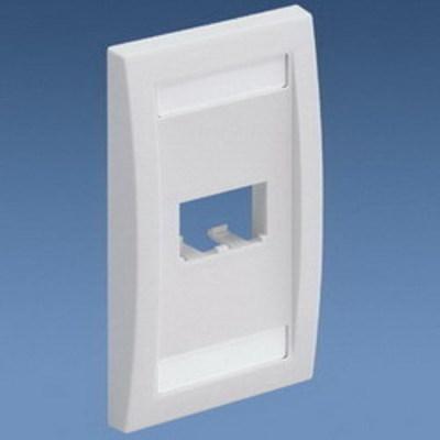 Panduit CFPE2BLY Panduit CFPE2BLY Mini-Com® 1-Gang Flat Faceplate; (2) UTP, STP, Fiber-Optic, A/V Port, ABS, Black