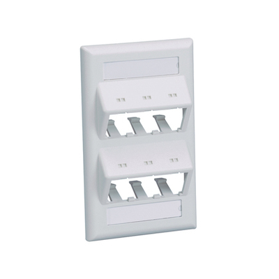 Panduit CFPSL6EIY Panduit CFPSL6EIY Mini-Com® 1 Gang Classic Series Sloped Faceplate; 6-Port, Screw Mount, ABS, Electric Ivory
