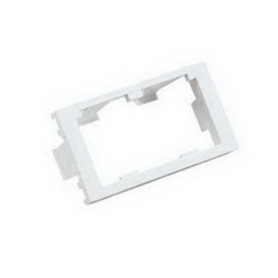 Panduit CHF2MIW-X Panduit CHF2MIW-X Mini-Com® Module Insert; 2-Port, 2-Module Space, 1/3 Inch, Plastic, Off White