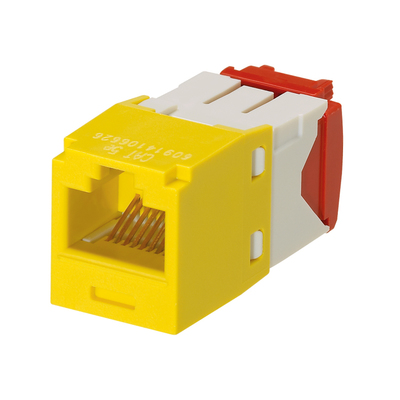 Panduit CJ5E88TGYL-24 Panduit CJ5E88TGYL-24 Mini-Com® TX5e™ Category 5e/Class D Jack Module; 8P8C, Yellow