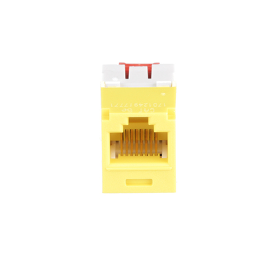 Panduit CJ5E88TGYL Panduit CJ5E88TGYL Mini-Com® TX5e™ Category 5e/Class D Jack Module; 8P8C, Yellow