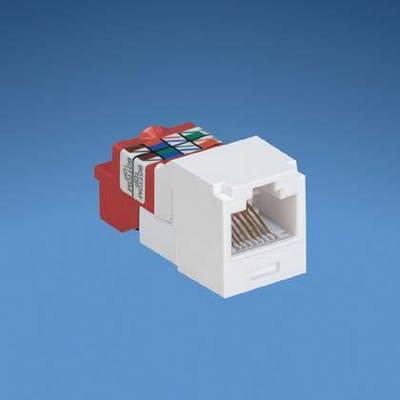Panduit CJ5E88TRD Panduit CJ5E88TRD Mini-Com® TX5e™ Category 5e/Class D Jack Module; 8P8C, Red