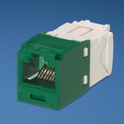 Panduit CJ688TGGR-24 Panduit CJ688TGGR-24 Mini-Com® TX6™ Category 6 RJ45 Jack Module; 8P8C, Green