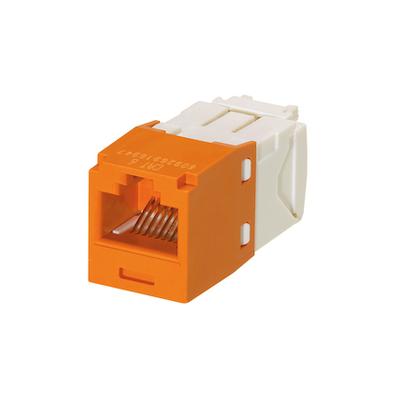 Panduit CJ688TGOR Panduit CJ688TGOR Mini-Com® TX6™ Category 6 RJ45 Jack Module; 8P8C, Orange