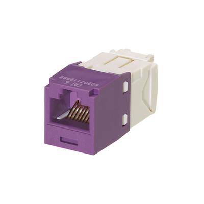 Panduit CJ688TGVL-24 Panduit CJ688TGVL-24 Mini-Com® TX6™ Category 6 RJ45 Jack Module; 8P8C, Violet
