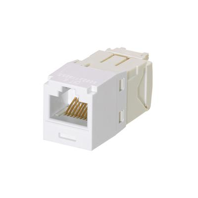 Panduit CJ688TGWH-24 Panduit CJ688TGWH-24 PanNet Mini-Com® 8 Wire Universal CAT 6/Class E RJ45 UTP Jack Module; 8P, Giga-TX (TG Style), White
