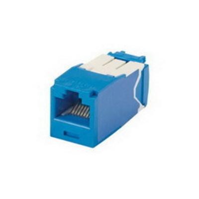 Panduit CJ6X88TGBU Panduit CJ6X88TGBU Mini-Com® TX6A™ 10Gig™ Category 6A RJ45 Jack Module with MaTriX Technology; 8P8C, Blue