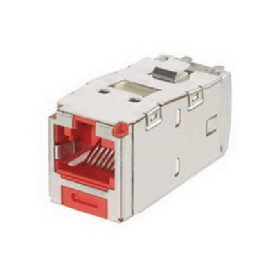 Panduit CJSK688TGRD Panduit CJSK688TGRD Mini-Com® TX6™ Keyed Category 6 TJ45 Jack Module; 8P8C, Red