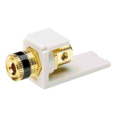 Panduit CMBPBWHY Panduit CMBPBWHY Mini-Com® 5-Way Module with Black Stripe; White