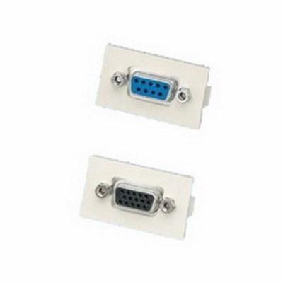 Panduit CMD15HDCIWY Panduit CMD15HDCIWY Mini-Com® D-Subminiature Connector; Female/Female 15 Pin HD Screw Terminal, Off-White