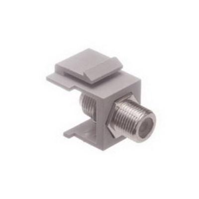 Panduit CMFIG Panduit CMFIG Mini-Com® Straight Female F-Type Coaxial Coupler Module; Gray